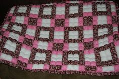 biscuit quilt~poly fil for stuffing and a batting between the biscuit layer and the backing.