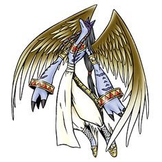 Anubismon - Mega level God Man/Wizard digimon; guards and supervises the Dark Area, deciding which digimon are to be trapped there and which are to be reborn into a Digi-Egg