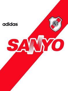 Camiseta de #River #1994 #Sanyo #Adidas