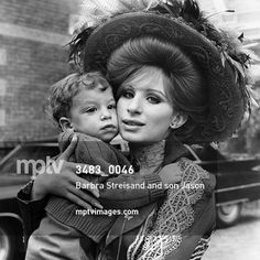 "There is nothing more important in life than love. - Barbra Streisand  ""Hello, Dolly!"" Barbra Streisand and son Jason Gould, 1969  #mptvimages #Love #Family #Photography #OldHollywood #HelloDolly"