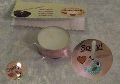 Teelicht-Botschaft Sorry  von ღKreawusel-Designღ auf DaWanda.com