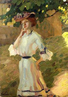 Portrait of a Woman Leo Putz - 1900
