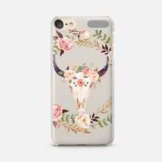 The Technological Alterations Of No Contract Cell Phones. Cute Ipod Cases, Ipod Touch Cases, Floral Watercolor, Watercolour, Cell Phone Contract, Iphone 6, Iphone Cases, Ipod Touch 6th Generation, Floral Skull