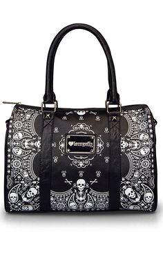 Bandana Skull Duffel Bag by Loungefly.... I WANT THIS BAG!!