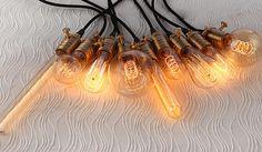 Een set van 9 verschillende Edison lampen met licht sockets en snoer draad - industriële verlichting - DIY lights - hangende lamp - 110v, 220v - lamp door LightwithShade op Etsy https://www.etsy.com/nl/listing/172937037/een-set-van-9-verschillende-edison