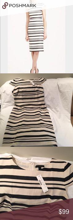 Jcrew stripped cap sleeve dress NWT Jcrew stripped cap sleeve dress NWT J. Crew Dresses Midi