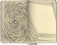 sketchbook art-room-project-ideas. This would be very soothing to do - not a whole lot of thought; just lines and lines and lines.