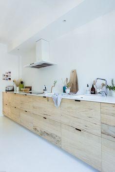 Scandinavian Kitchen, Scandinavian Interior, Scandinavian Benches, Rough Wood, Wooden Kitchen, Distressed Kitchen, Rustic Kitchen, French Decor, French Interior