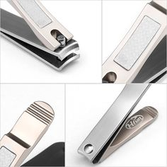 Nail Clippers By Hfun Sharpest Stainless Steel Fingernail Toenail Cutter Trimmer With File Mini Brush Top Grade Gift Box Brown