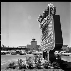 Royal Nevada Casino on the Las Vegas Strip (1955). It would soon be incorporated into the newly-opened Stardust next door. Photographed by Loomis Dean