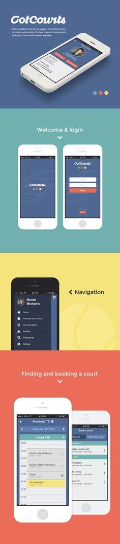 Flat mobile application for online tennis platform