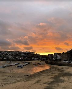 An incredible sunset over St Ives harbour in Cornwall, UK - one of the best places to see a sunset in the UK. St Michael's Mount, St Ives Cornwall, Amazing Sunsets, About Uk, Places To See, The Good Place, Travel Inspiration, The Incredibles, Sky