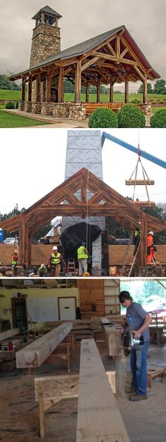 Timber framed chapel - in the shop, being raised and finished! See more on our website.