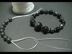 how to make beaded bracelets with elastic - Google Search