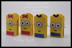 OnStage Local Swap 2015 - Mini Tic Tac Character Boxes: Minion Set. Kelly Kent - mypapercraftjourney.com.