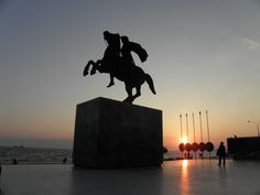 Statue of Alexander the Great in Thessaloniki Macedonia Greece #Macedonia #Thessaloniki #AncientMacedonia #Thessaly #NIke #statues #monuments #AlexandertheGreat #Macedonians #GreekKingdoms #Hellenistic #Greeks