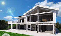 Prosjekt Bjorøy før og etterbilde Garage Doors, Mansions, House Styles, Outdoor Decor, Home Decor, Decoration Home, Manor Houses, Room Decor, Villas