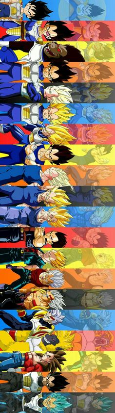 The evolution of vegeta - Dragon ball