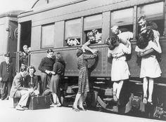 3. Antes de lutar na Segunda Guerra Mundial, um último e emocionante adeus