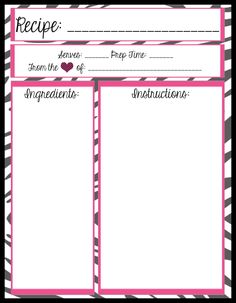 I've been on a mission for quite some time to find full binder size recipe card templates. It seems to me that a 3 ring binder recipe book i...