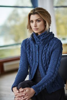Inspired by the ancient sagas, I have designed a warm jacket with cross chain link cables that prepares you for the battle of the winter or for a cold Northern summer day. The jacket is straight a. Cable Cardigan, Cable Knit, Jumpers For Women, Sweaters For Women, Women's Jumpers, Cardigan Design, Sewing Clothes, Sweater Weather, Clothing Patterns
