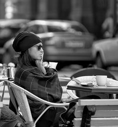 morning coffee in the city