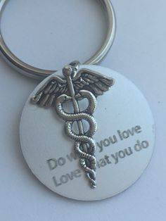 Do What You Love, Love What You Do.  Professional keychain for the professional in your life.Nurse, soldier,doctor, teacher, fireman,officer by Lexiandfriends on Etsy