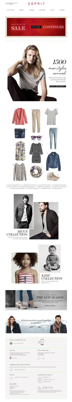 #newsletter Esprit 01.2014  The new season starts    The SALE continues…