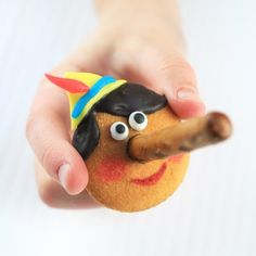 Kids can craft their own Pinocchio cookies using Nilla Wafer cookies, pretzel noses and a few sweet accessories.