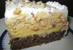 Recepti i kuhinja: Ambasador torta Torte Recepti, Kolaci I Torte, Sweet Recipes, Cake Recipes, Dessert Recipes, No Cook Desserts, Just Desserts, Brze Torte, Torta Recipe