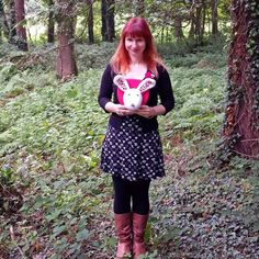 Am joining in a day late to @joannehawker 's #marchmeetthemaker IG challenge/party! Today's subject is 'You' so here I am. Taken last September me and Sabrina the Woolidermy bunny head went for a walk in the woods next to my studio it's one of my favourite pics of me with my work.  #marchmeetthemaker #marchmeetthemakerday2 #lostinthewood #woolidermy #crochet #amigurumi #crochetersofinstagram #glynllifon #woods #northwalesartists #northwales #smallbusiness #independentmakers #softsculpture…