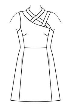 Платье расклешенного силуэта - выкройка № 117 из журнала 7/2016 Burda – выкройки платьев на Burdastyle.ru