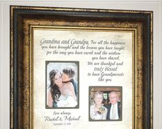 Wedding gift for grandparents, grandparents wedding thank you gift for grandmother grandfather gift Wedding prep; Thank You Gift For Parents, Wedding Thank You Gifts, Wedding Gifts For Parents, Mother Of The Groom Gifts, Father Of The Bride, Bride Gifts, Anniversary Party Decorations, 50th Anniversary Gifts, Wedding Anniversary
