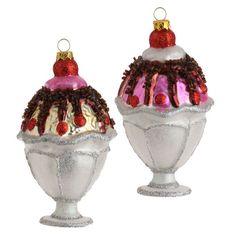 RAZ Candy Wonderland 5 inch Sundae Ornament Set