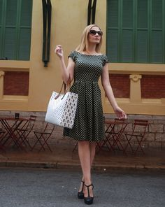 abito a pois polka dot dress retro glam coco et la vie en rose