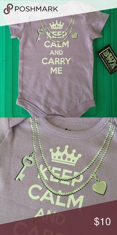 👭keep calm and carry me onesie NWT. snaps in stride One Pieces