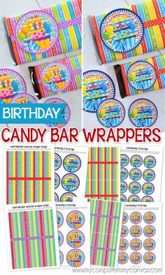 PRINTABLE Birthday Candy Bar Wrapper - great gift idea or party favor #mycomptuerismycanvas