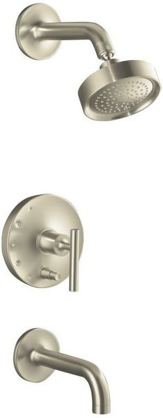 Kohler K-T14421-4 Single Handle RiteTemp Tub and Shower Trim with Single Functio Brushed Nickel Faucet Tub and Shower Single Handle