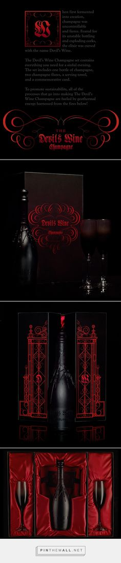 The Devil's Wine Champagne on Behance curated by Packaging Diva PD. Hard to see the details on the packaging design but it's worth a look.