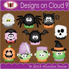 Designs on Cloud 9 Spooky Cakes SVG and cutting files