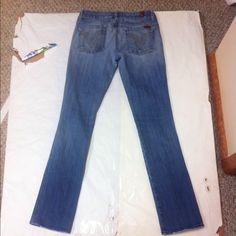 7 for all Mankind jeans Great condition. Long... Inseam appears to be 33 or 34. I will make sure and add the correct inseam shortly. 7 for all Mankind Jeans Straight Leg