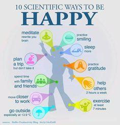 10 scientific ways to be happy