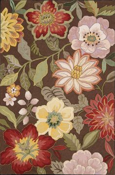 Floral rug available from Mark Gonsenhauser's Rug and Carpet Superstore in Virginia Beach.