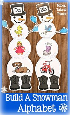 Fun little winter themed activity for learning letters and sounds.