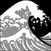 Image result for japanese wave stamp