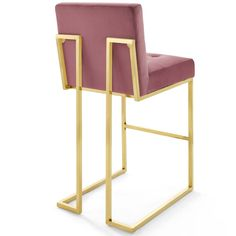 Kitchen Counter Stools, Counter Height Stools, Stainless Steel Bar Stools, Foot Rest, Dusty Rose, Upholstery, Room Decor, Cushions, Velvet