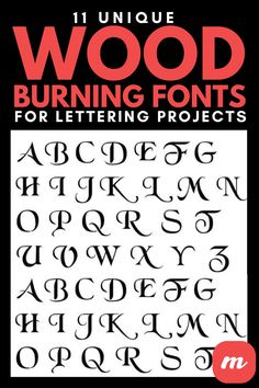 Wood Burning Crafts, Wood Burning Patterns, Wood Crafts, Laser Cut Stencils, Letter Stencils, Easy Projects, Wood Projects, Fancy Fonts, Metal Tools