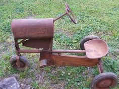 """old"" pedal tractor"