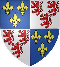 Le blason de la Picardie. Coat of arms of Picardie region.