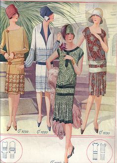From My Little Hole in the Wall 20s Fashion, Fashion History, Art Deco Fashion, Retro Fashion, Vintage Fashion, Victorian Fashion, Vintage Dress Patterns, Clothing Patterns, Vintage Dresses